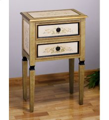 """15x24x36""""H SCROLL 2 DRAWER OCCAS. TABLE"""
