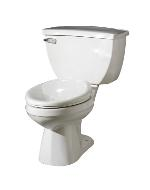 "White Ultra Flush® 1.1 Gpf 4 1/4"" Vertical Rough-in Two-piece Back Outlet Elongated Toilet"