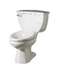 """White Ultra Flush® 1.1 Gpf 4 1/4"""" Vertical Rough-in Two-piece Back Outlet Elongated Toilet"""