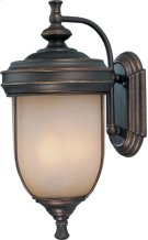 Outdoor Wall Lamp, Ant. RUST/L.AMB Glass, E12 Type B 60wx3 Product Image