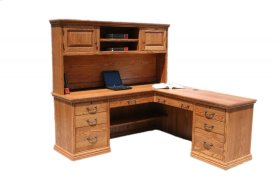 """A-T641 Traditional Alder 72"""" Desk and Return"""