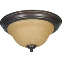 2-Light Medium Flush Mount Ceiling Light in Sonoma Bronze with Champagne Glass