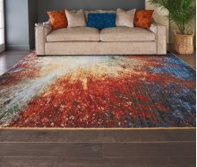 Chroma Crm02 Red Flare Rectangle Rug 8'6'' X 11'6''