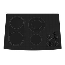 30-inch Electric Ceramic Glass Cooktop with Bridge Element