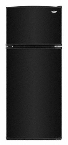 Black-on-Black 17.6 cu. ft. Top Mount Refrigerator