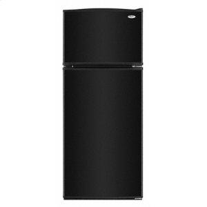 WhirlpoolBlack-on-Black 17.6 cu. ft. Top Mount Refrigerator