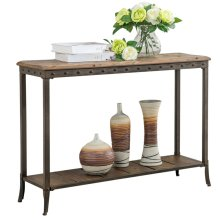 Trenton Rectangular Console Table in Distressed Pine