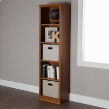 5-Shelf Narrow Bookcase - Morgan Cherry