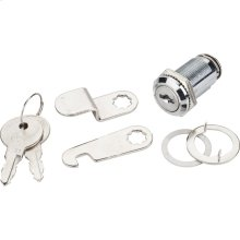 "1-1/8"" Length Chrome Cam Lock Keyed Different"