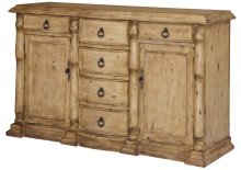 Aberdeen 6 Drawer 2 Door Textured Sideboard
