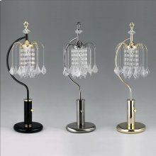 "Rain Drop Table Lamp 27""h Black"
