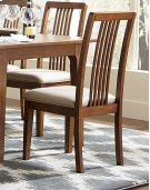 Tallback Upholstered Dining Chair (2 pr ctn) - Cinnamon Finish Product Image