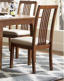 Tallback Upholstered Dining Chair (2 pr ctn) - Cinnamon Finish