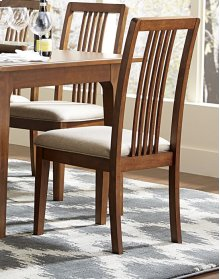 Tallback Upholstered Dining Chair (2 pr ctn) - Cinnamon Finish
