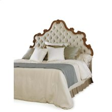 King Wood Scroll Tufted Uph Headboard