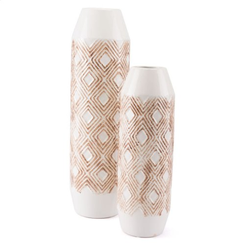 Toba Bottle Sm White & Brown