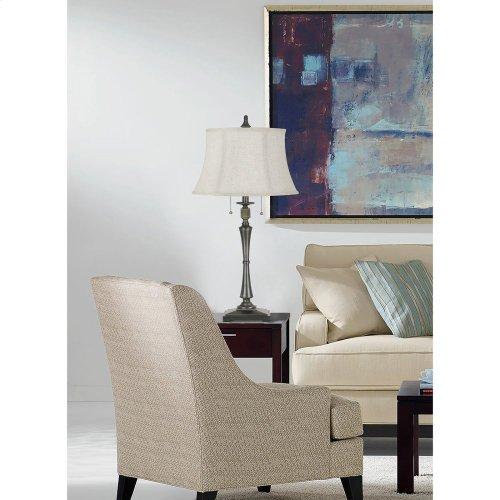 60W X 2 Madison Metal Table Lamp With SofTBack Fabric Shade