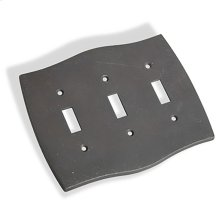 Triple Toggle Colonial Switch Plate - Distressed Oil Rubbed Bronze