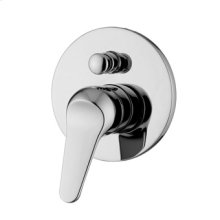 Built-in single lever bath-shower mixer with diverter.