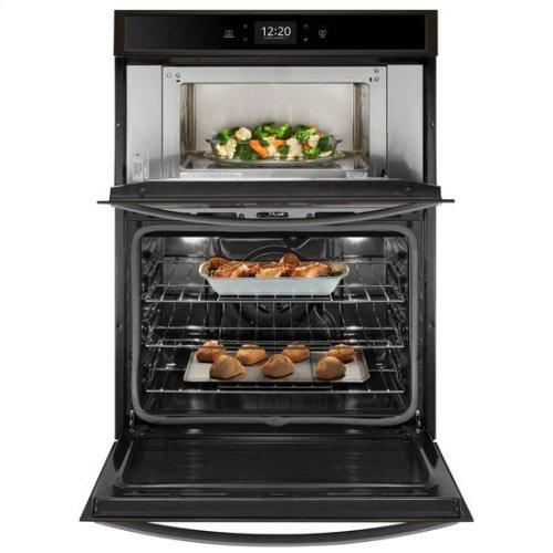 Whirlpool® 6.4 cu. ft. Smart Combination Wall Oven with Touchscreen - Black Stainless