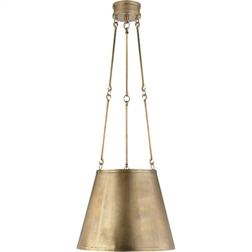 Visual Comfort AH5210NB Alexa Hampton Lily 3 Light 15 inch Natural Brass Hanging Shade Ceiling Light