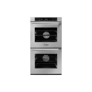 "Dacor27"" Heritage Double Wall Oven, Silver Stainless Steel, Epicure Style stainless steel handle with chrome end caps"