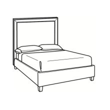 Queen Bed with Tall Headboard
