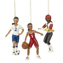 Girl Sport Ornament. (12 pc. ppk.)