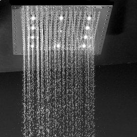 """Polished Chrome - 12"""" x 12"""" QUADRATO Dream Light Rain Canopy"""
