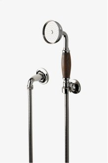 Easton Classic Handshower On Hook with Oak Handle STYLE: EAHS15