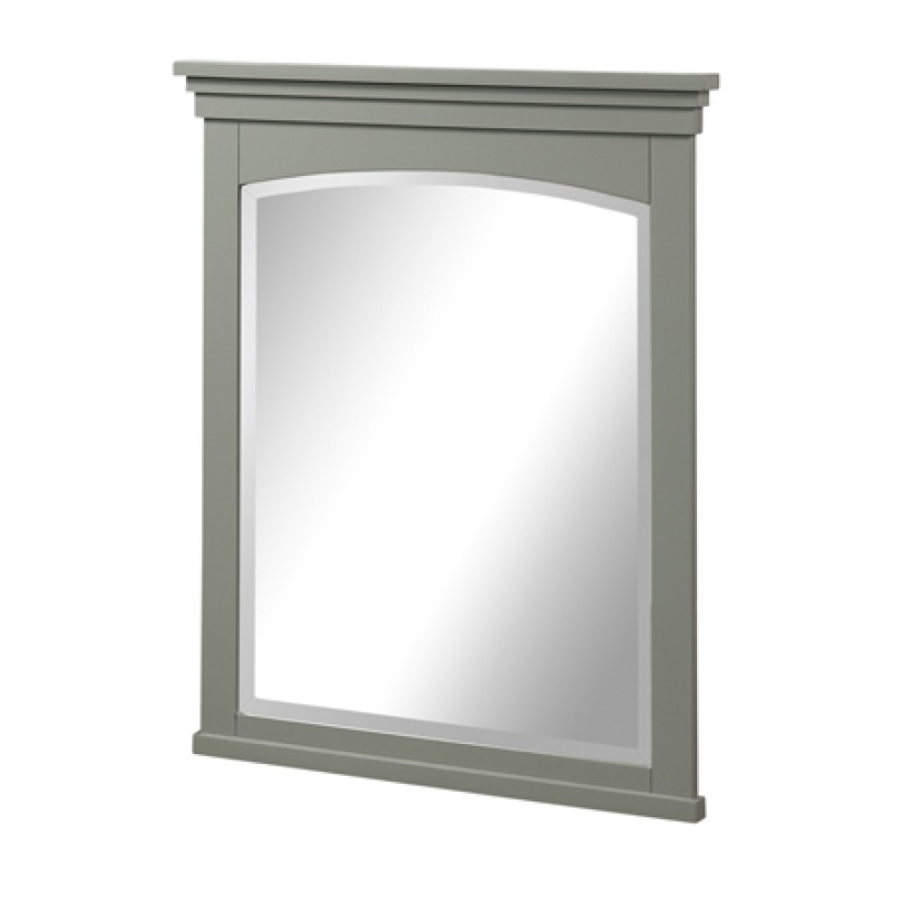 "Shaker Americana 28"" Mirror - Light Gray"