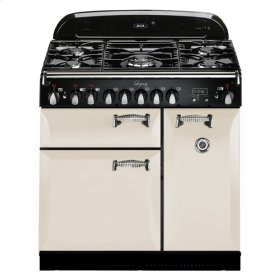 """Ivory with solid doors AGA Legacy 36"""" Dual-Fuel Range"""