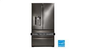 LG Black Stainless Steel 27 cu. ft. Ultra Capacity 4-Door French Door Refrigerator
