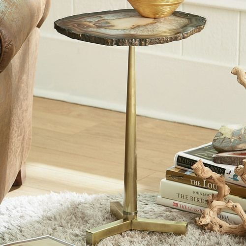 Hidden Treasures Brown Agate Table