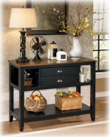 Dining Room Server Owingsville - Black/Brown Collection Ashley at Aztec Distribution Center Houston Texas