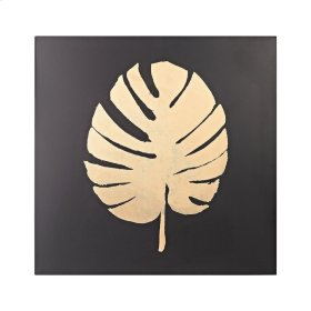 Metallic Palm Frond on Black