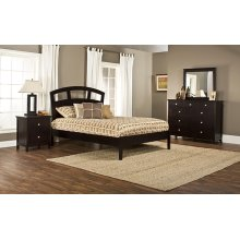 Metro 4pc Espresso Bedroom with Riva Queen Platform Bed