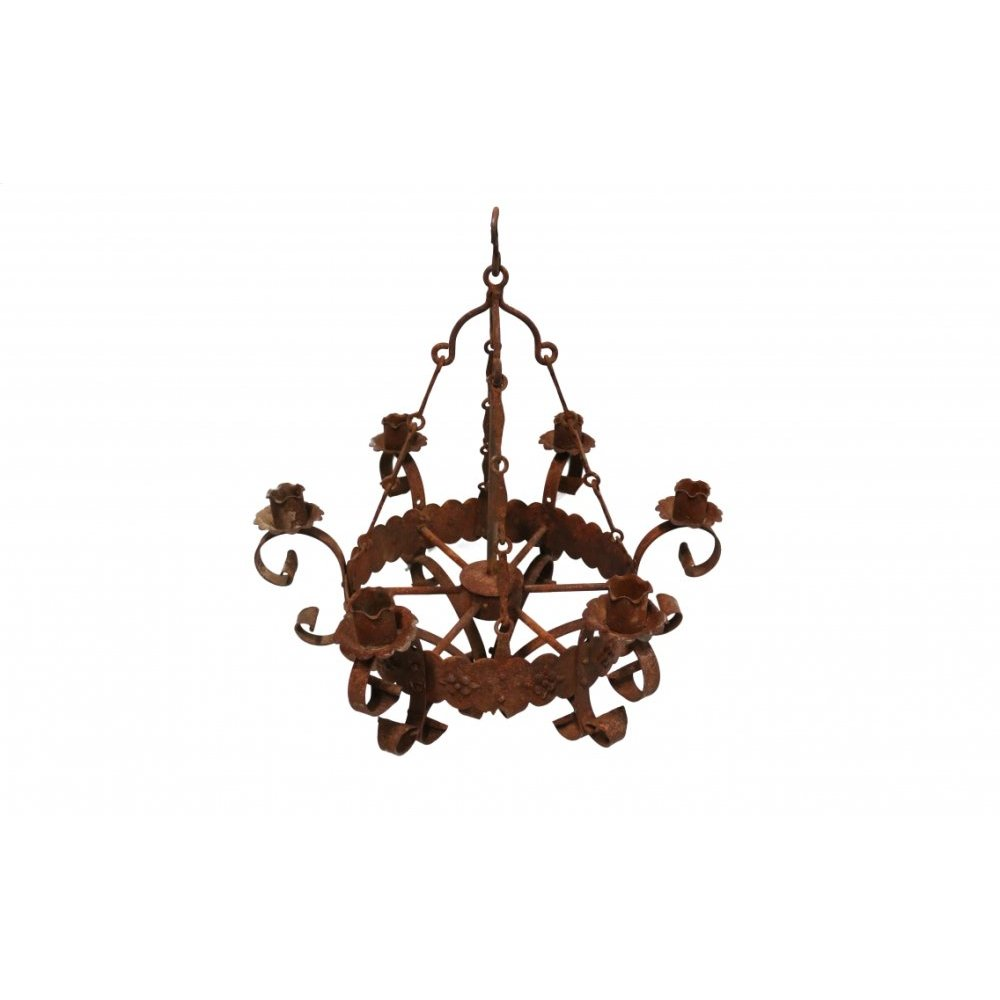 Factory 4 Rustic Small 6 Light Simple Chandelier
