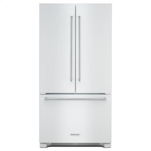 KitchenAid® 22 cu. ft. 36-Inch Width Counter Depth French Door Refrigerator with Interior Dispense - White - WHITE