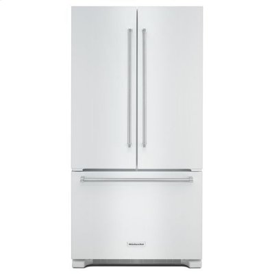 KitchenAid® 22 cu. ft. 36-Inch Width Counter Depth French Door Refrigerator with Interior Dispense - White Product Image
