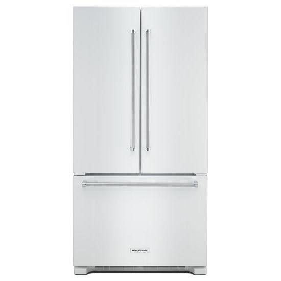 KitchenAid® 22 Cu. Ft. 36 Inch Width Counter Depth French Door Refrigerator  Hidden