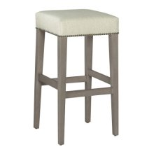 Jaxon Bar Stool with Nailheads