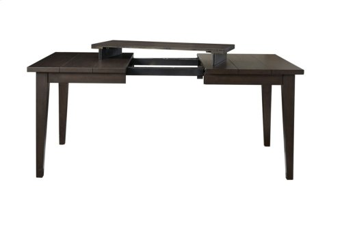 "Elora Dining Table, Dark Oak, 40""x52""x69""x86"" w/ Two 17""Leaf"