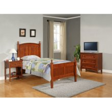 "Parker ""Cinnamon"" Twin Bedroom - 360-038 Twin Bed, 360-018 3-Drawer Dresser, 360-028 Nightstand"