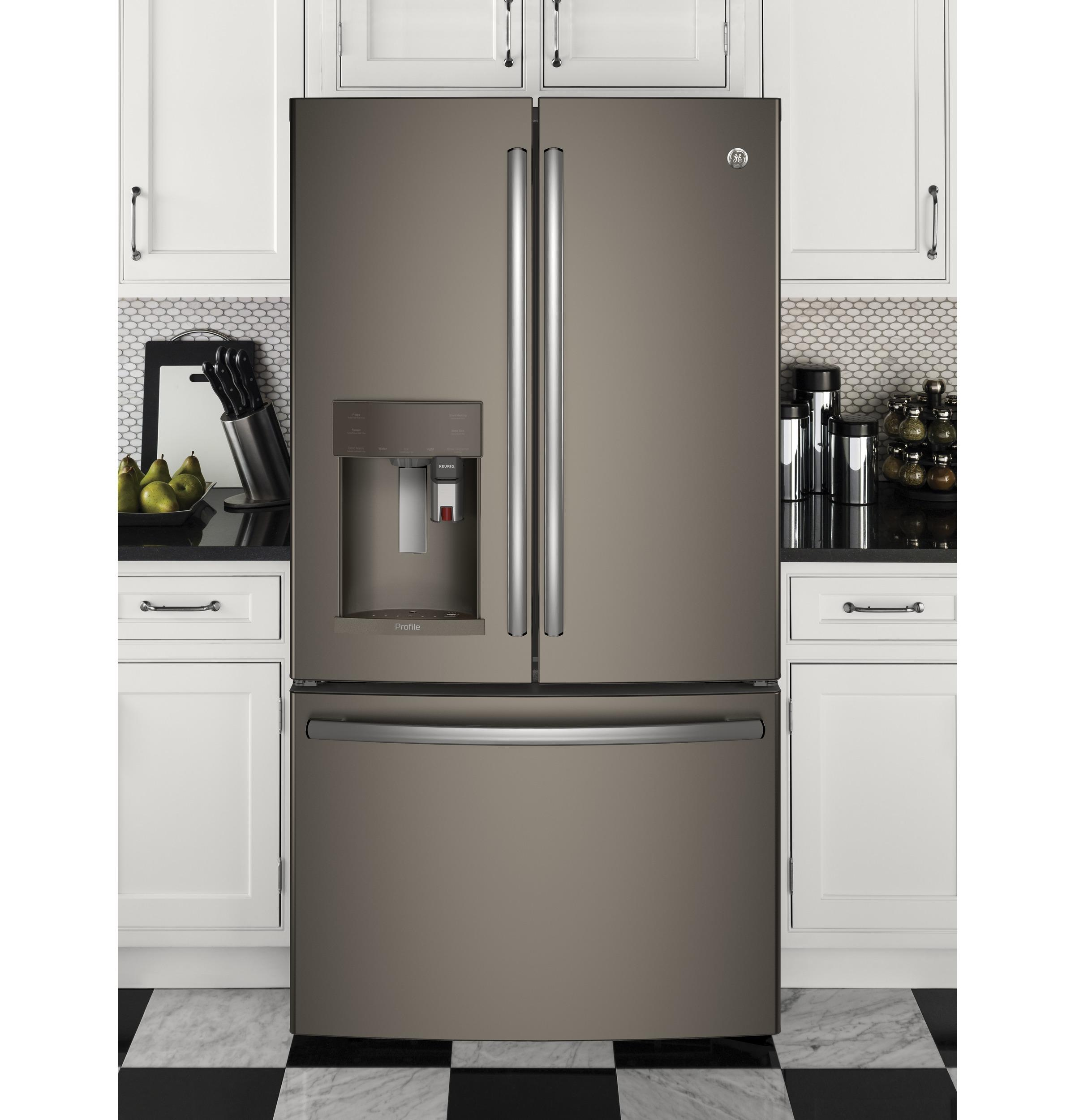 GE Profile™ Series ENERGY STAR® 22.2 Cu. Ft. Counter Depth French