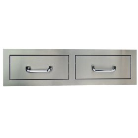 RCS Stainless Horizontal Double Drawer
