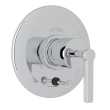 Polished Chrome Avanti Integrated Volume Control Pressure Balance Trim With Diverter with Metal Lever