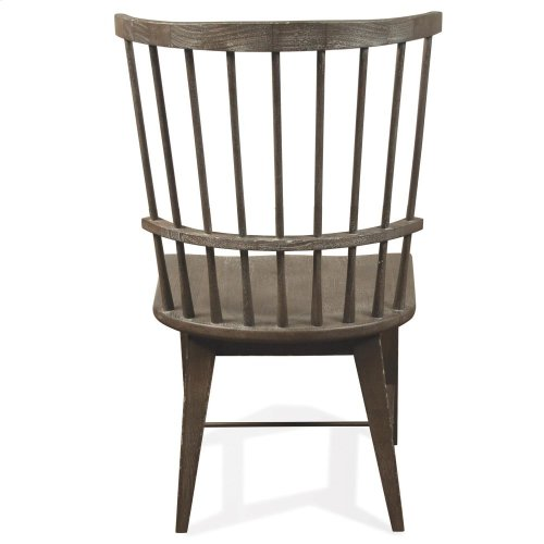 Juniper - Windsor Side Chair - Charcoal Finish