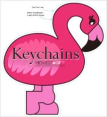 Flamingo Keychains Sign.