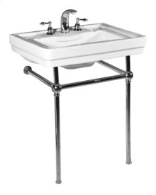 White RICHMOND Console Lavatory Metal Stand